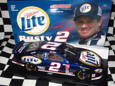 Rusty Wallace NASCAR diecast collectible cars - South Philly Diecast