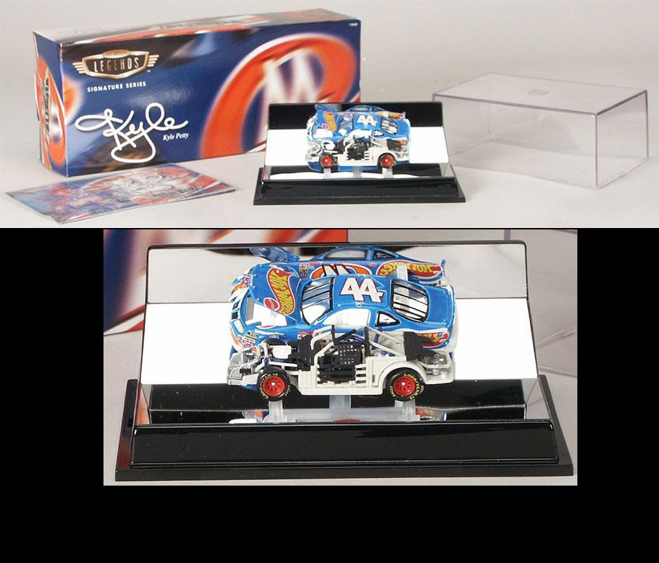 Hot Wheels 1997 Kyle Petty Hot Wheels Legends with Display Case diecast