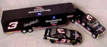 Brookfield 2001 Dale Earnhardt Goodwrench Plus Dually, Closed Trailer & Car diecast