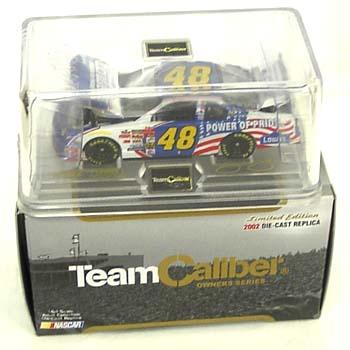 Team Caliber 2002 Jimmie Johnson Lowes Power of Pride (Owners in display case) diecast