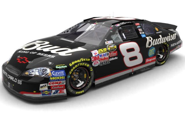 Action 2006 Dale Earnhardt Jr Budweiser 3 Days of Dale / Black Tribute Chevy Monte Carlo diecast