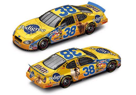 Action 2005 Elliott Sadler Pedigree Ford Taurus (Club Car #66 of 288) diecast