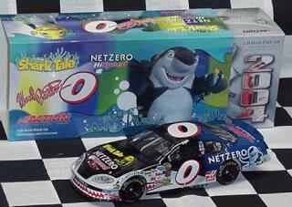 Action 2004 Ward Burton Net Zero HiSpeed Shark Tales Chevy Monte Carlo diecast