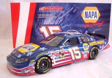 Action 2004 Michael Waltrip NAPA Stars and Stripes Chevy Monte Carlo diecast