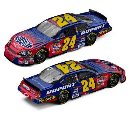 Action 2007 Jeff Gordon Dupont Chevy Monte Carlo diecast