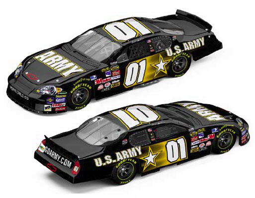 Action 2007 Mark Martin Army Chevy Monte Carlo (Elite) diecast
