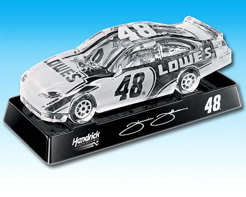 Godinger 2008 Jimmie Johnson Lowes Chevrolet Monte Carlo (Crystal Car) diecast