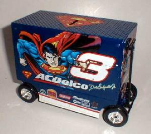 Action 1999 Dale Earnhardt Jr. AC Delco Superman Pit Wagon Bank diecast